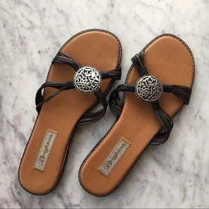 Brighton Strappy Leather Sandals Size 9M